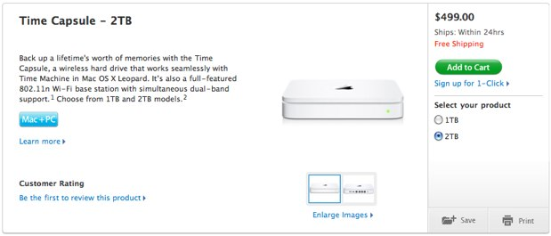 apple lance une time capsule de 2 to macgeneration. Black Bedroom Furniture Sets. Home Design Ideas