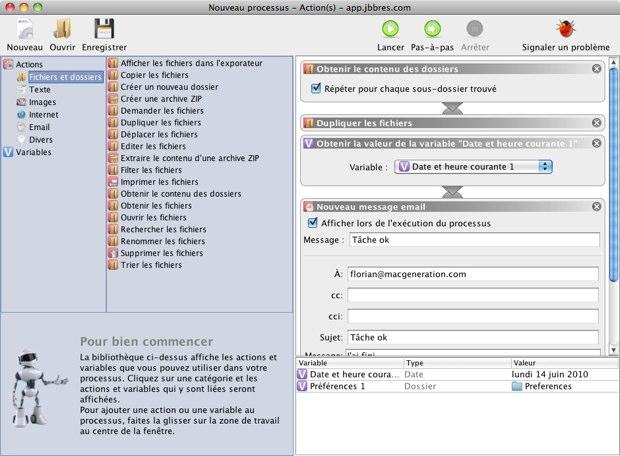 Un cousin d'Automator pour Mac et Windows | MacGeneration