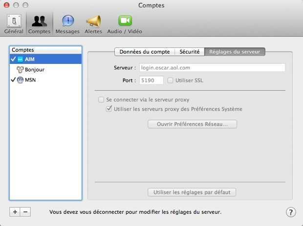 ichat pour mac