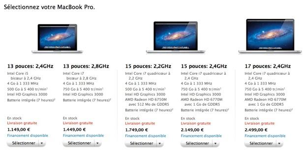 apple sort discr tement de nouveaux macbook pro. Black Bedroom Furniture Sets. Home Design Ideas