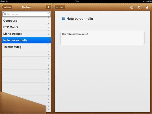 wallet iPad