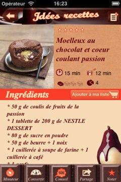 nestl desserts le chocolat dans l 39 app store igeneration. Black Bedroom Furniture Sets. Home Design Ideas
