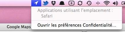 géolocalisation OS X Lion