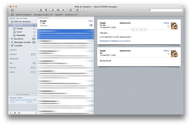Mail OS X Lion
