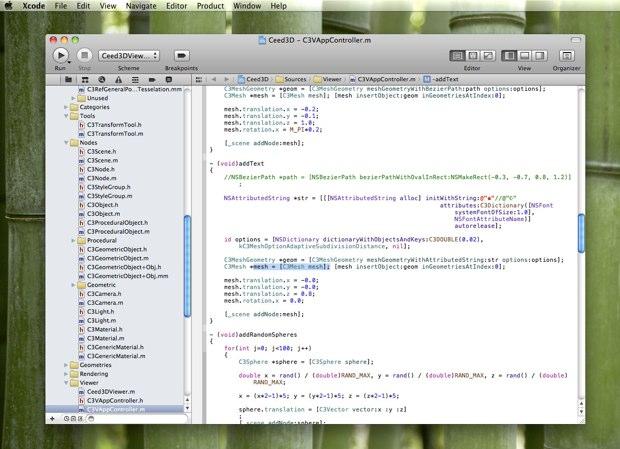 exemple de xcode