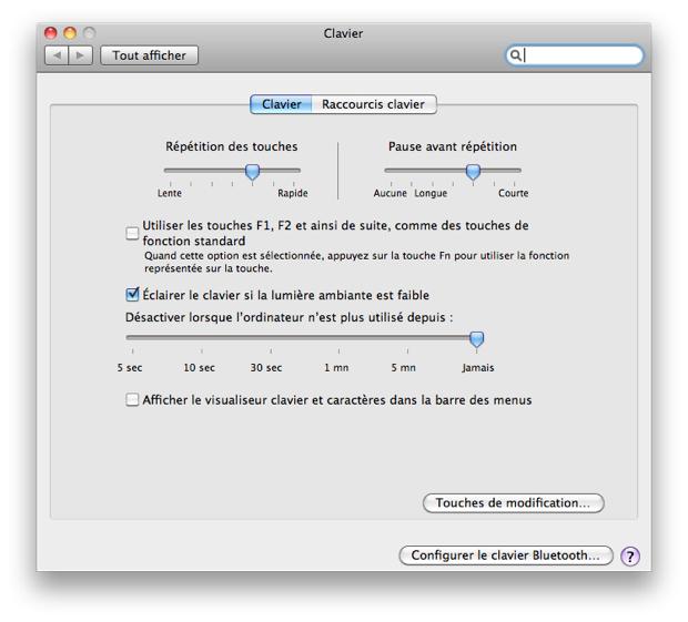 iMac 2011 clavier éclairé