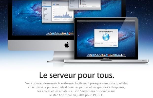 OS X Lion Server - le serveur pour tous