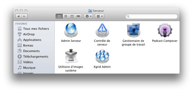 Serveur Apps Lion