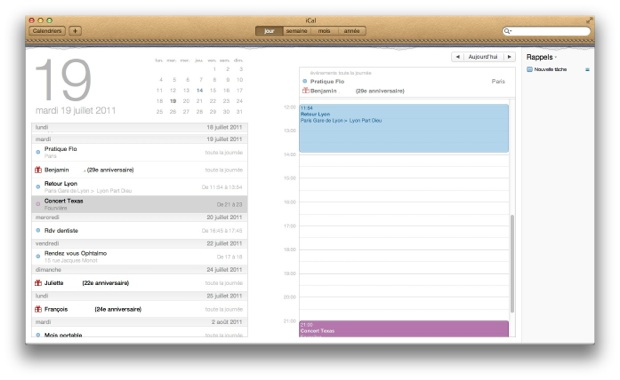 iCal Lion