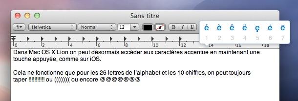 OS X Lion texte
