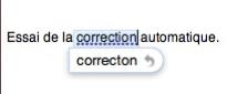 lion correction automatique