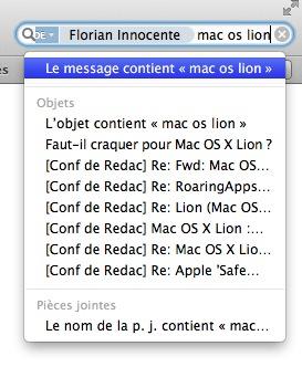 mail lion recherche