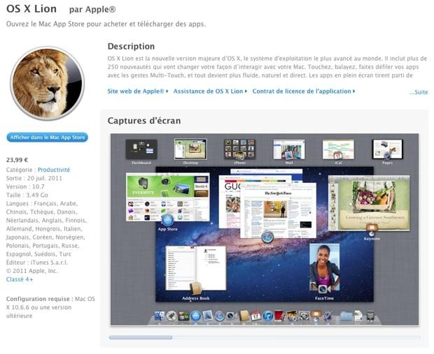 Mac OS X Lion App Store