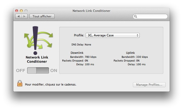 Network Link Conditionner