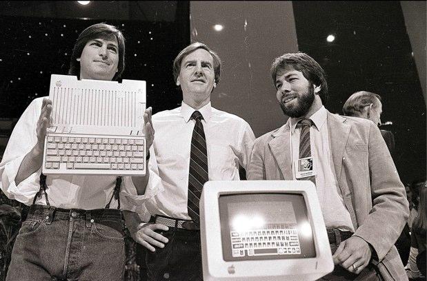Steve Jobs, John Sculley & Steve Wozniak
