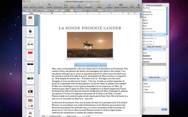 Pages iWork