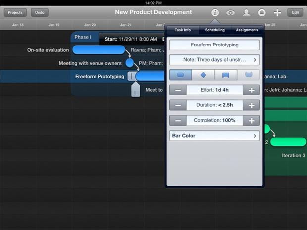 Omniplan iPad