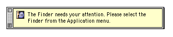 notifications Mac OS 9