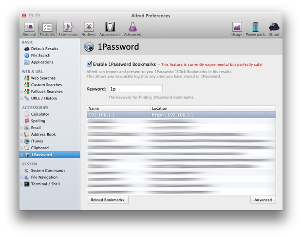 Alfred 1Password