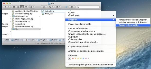 iWeb Dropbox