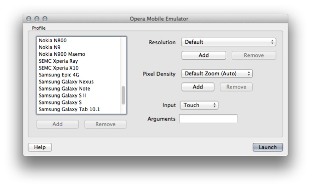 Opera Mobile Emulator disponible sur le Mac App Store | MacGeneration